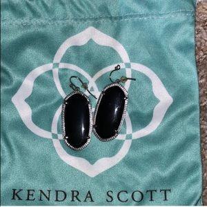 Kendra Scott black & silver Elle earrings